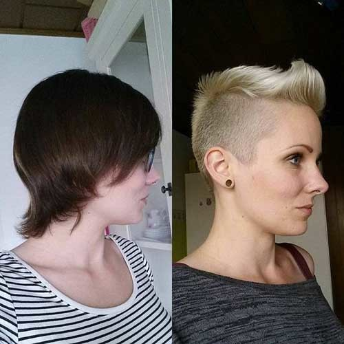 Mohawk-Style Before and After Pics of Short Haircuts
