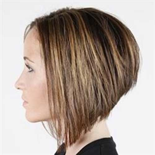 Nice-Short-Stacked-Haircut-for-Thick-Hair Short stacked haircut
