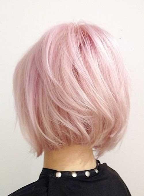 Pink-Blonde-Bob-Hair-for-Women Short Bob Hairstyles for Women