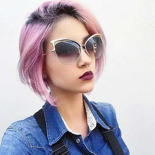 Pink-Bob-Haircut Nice Short Hairstyle Ideas for Teen Girls