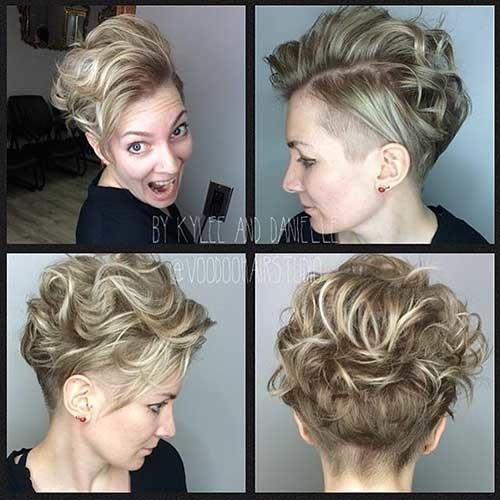 Pixie-Cut-with-Long-Hair-on-Top Trending Style for Summer: Curly and Wavy Hairstyles