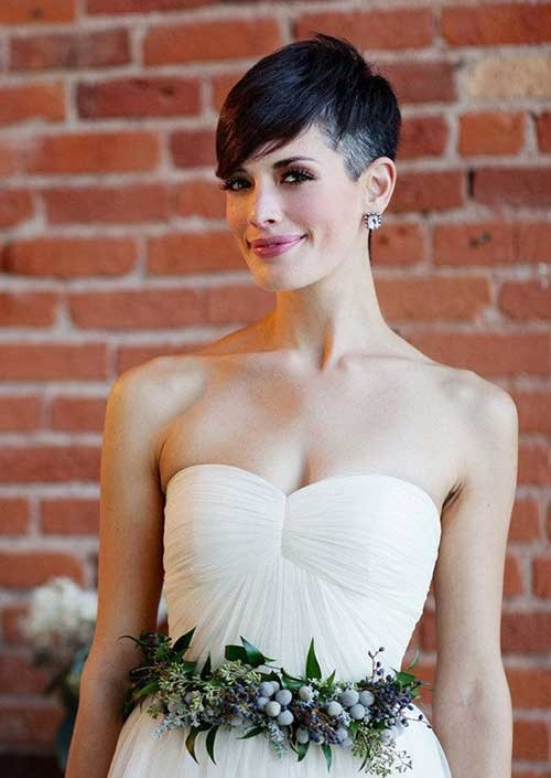 Pixie-Wedding-Hairstyle Best Short Hairstyles for Wedding You Should See