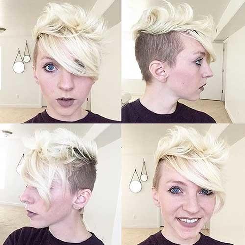 Pixie-with-Undercut-Style Striking Short Hair Ideas for Blondies