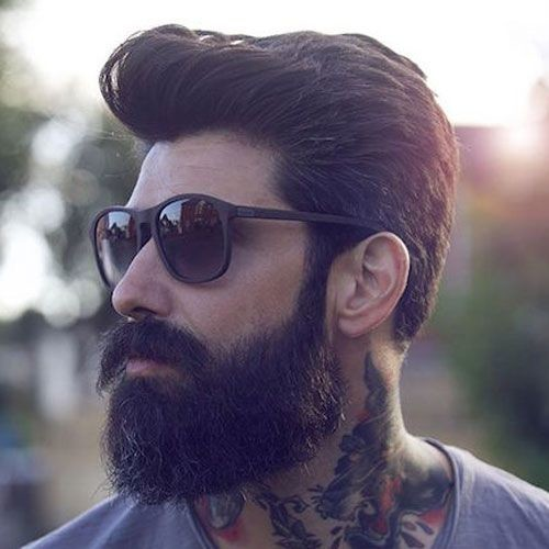 Pompadour-Beard Men's Hair Trends That Aren't The Fade