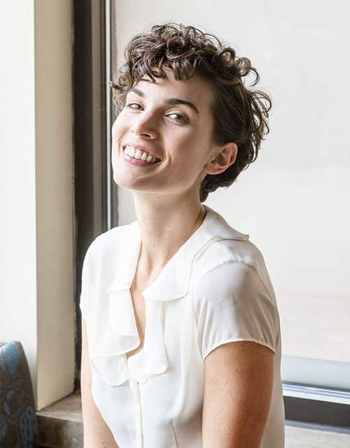 Quick-Hairstyle-For-Short-Curly-Hair Easy Hairstyles For Short Curly Hair