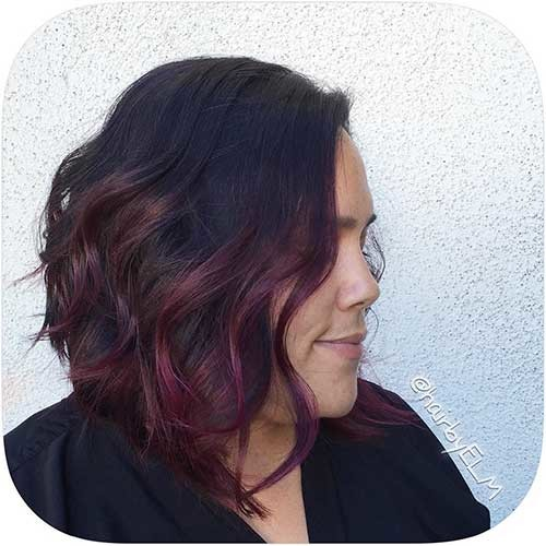 Red-Ombre-Style Most Magnetizing Hairstyles for Curly and Wavy Hair