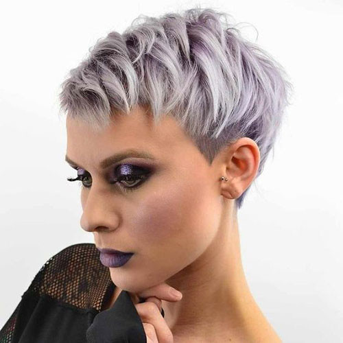Sassy-Grey-Pixie Sweet and Sexy Pixie Hairstyles for Women