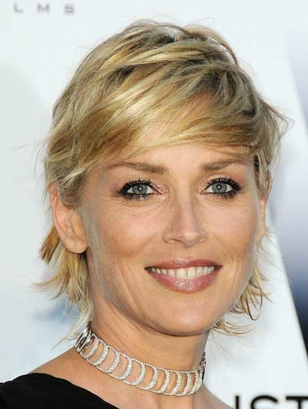 Sharon-Stone-short-hairstyles New Short Celebrity Haircuts 2019