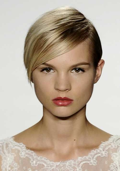 Short-Blonde-Flat-Cute-Hair Womens Short Hairstyles for Thin Hair