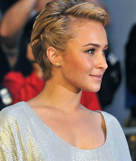 Short-Blonde-Thick-Straight-Hair Best Celebrity Short Hairstyles