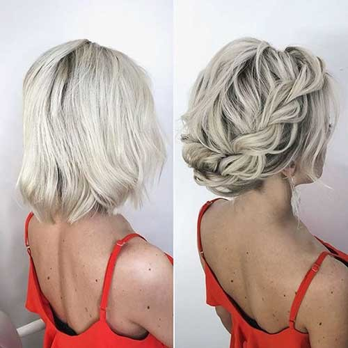 Short-Braided-Hair-Style Best Short Hairstyles for Wedding You Should See
