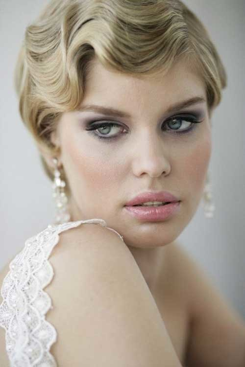 Short-Hair-Gatsby-Hairstyle Best Short Hairstyles for Wedding You Should See