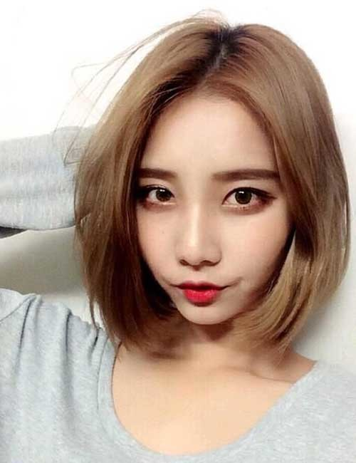 Short-Hair-Korean-Style Short Hairstyle Options for Fine Haired Ladies
