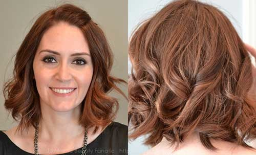 Short-Hair-with-Wavy-Ends Eye-Catching Short Hairstyles in 2019 for Wavy Hair
