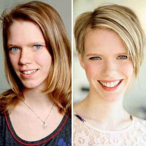 Short-Haircut-Long-Side-Bangs Before and After Pics of Short Haircuts