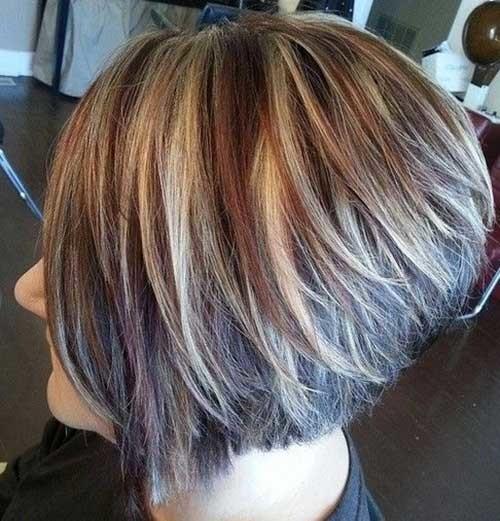 Short-Highlighted-Stacked-Haircut Short stacked haircut