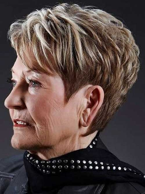 Short-Layered-Pixie-Style-for-Over-50 Short Hair Styles for Over 50