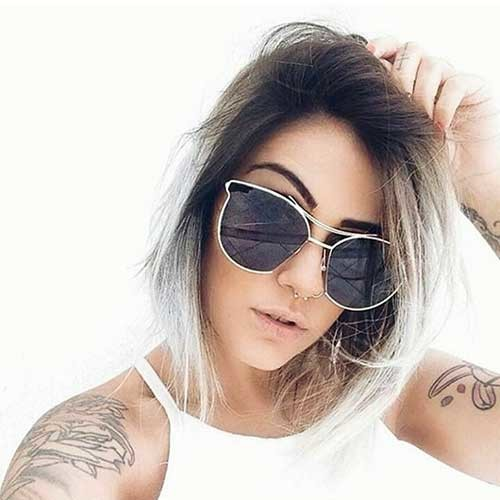 Short-Ombre-Bob-Hairstyle Nice Short Hairstyle Ideas for Teen Girls