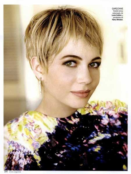 Short-Straight-Simple-Pixie-Style Short blonde hairstyles