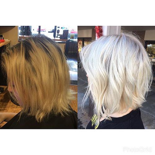Short-White-Blonde-Hair-2 New Short White Hair Ideas 2019