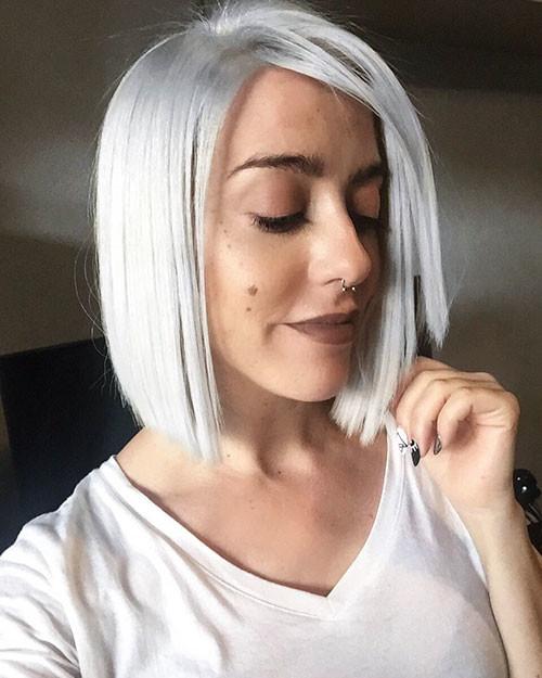 Short-White-Hair-With-Lowlights New Short White Hair Ideas 2019