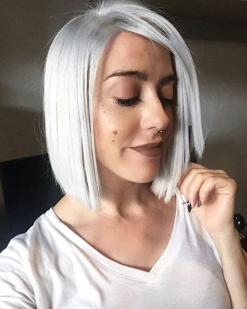 Short-White-Hair-With-Lowlights New Short White Hair Ideas 2019