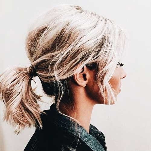 Simple-Short-Ponytail Simple Short Hairstyles for Pretty Women