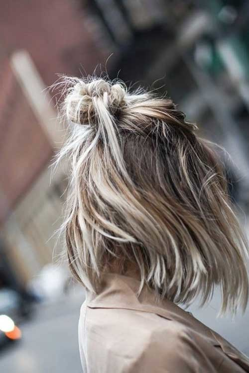 Simple-Updo-for-Short-Hair Simple Short Hairstyles for Pretty Women