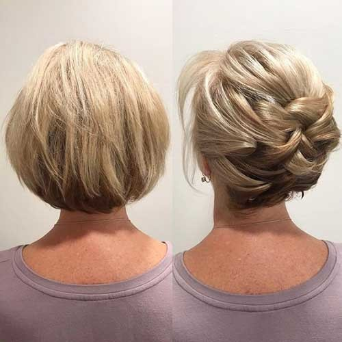 Simple-Updo Best Short Hairstyles for Wedding You Should See