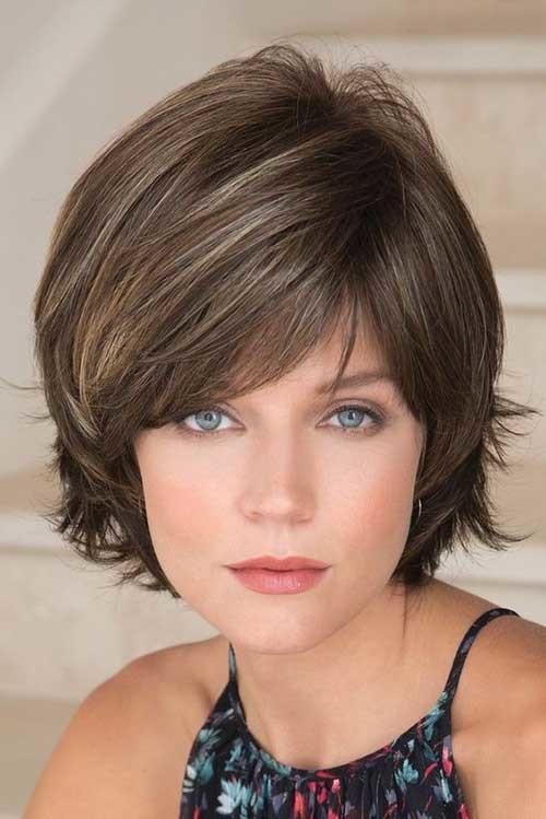 Soft-Highlights Flattering Layered Short Haircuts for Thick Hair