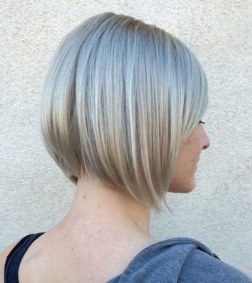 Stacked-Bob-Haircut Short Hairstyle Options for Fine Haired Ladies