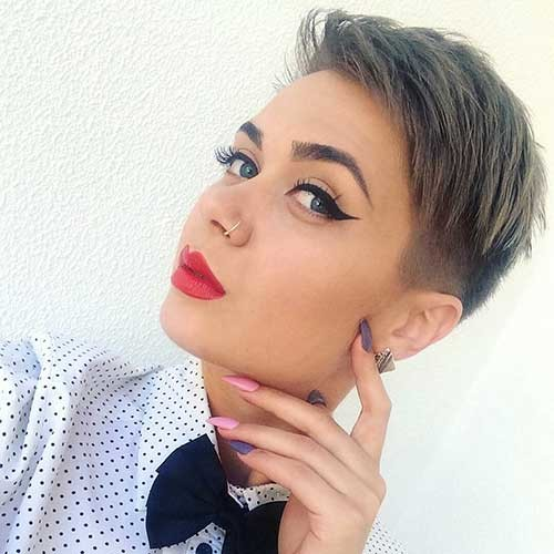 Tapered-Pixie Nice Short Hairstyle Ideas for Teen Girls