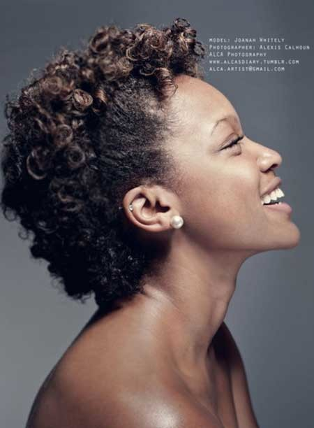 The-Natural-Curly-Hair-with-Shaven-Sides-and-Awesome-Tinge-of-Colors The best short haircuts for black women