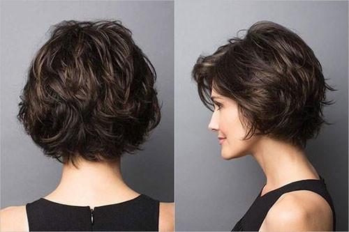 Thick-Layered-Short-Hair Elegant Short Haircuts for Thick Hair