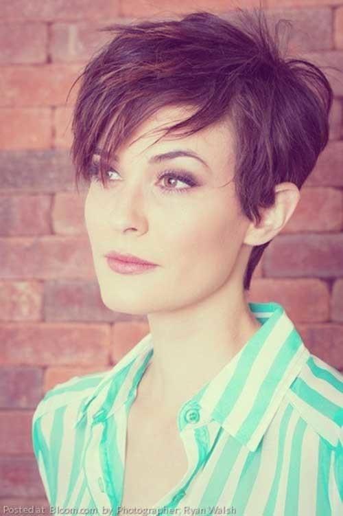 Thick-Short-Haircut Asymmetrical Short Haircuts for Fabulous Look