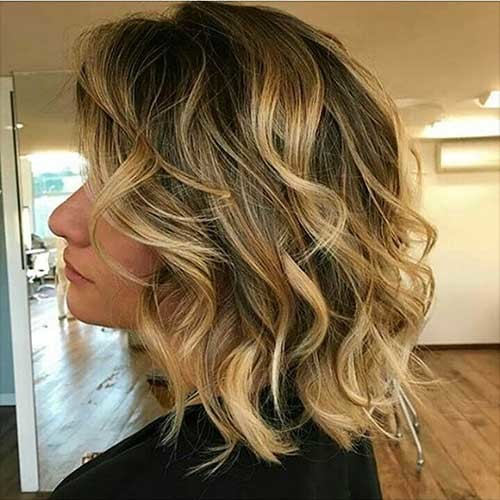 Wavy-Balayage-Bob Most Magnetizing Hairstyles for Curly and Wavy Hair