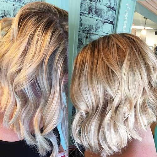 Wavy-Bob-for-Thick-Hair Striking Short Hair Ideas for Blondies