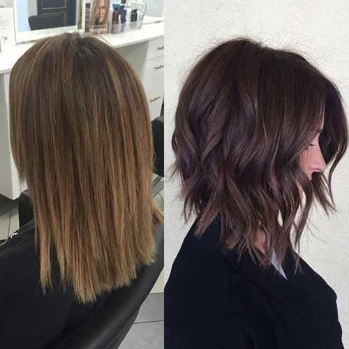 Wavy-Inverted Best Must-Try Brunette Bob Haircuts