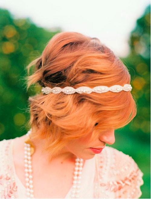 Wedding-hairstyles-for-short-red-hair Short Wedding Hair Ideas