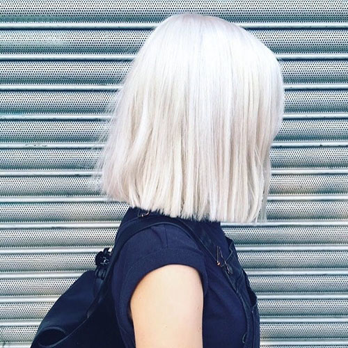 White-Blonde-Short-Hairstyles New Short White Hair Ideas 2019