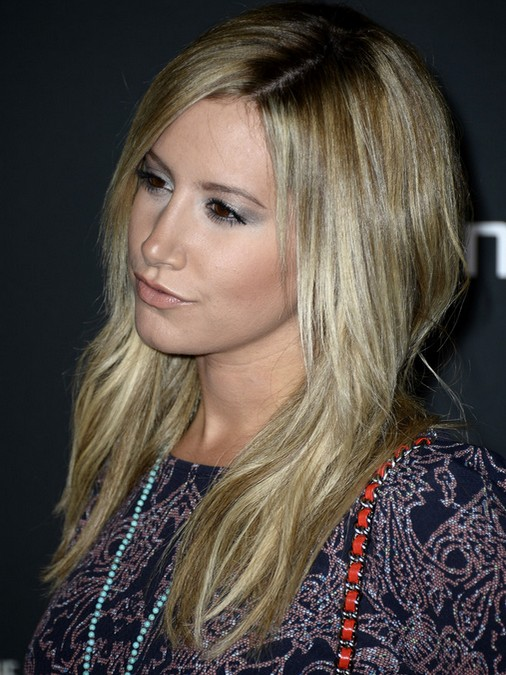 2014-Ashley-Tisdale-Hairstyles-Medium-Straight-Hair Top 100 Celebrity Hairstyles 2019