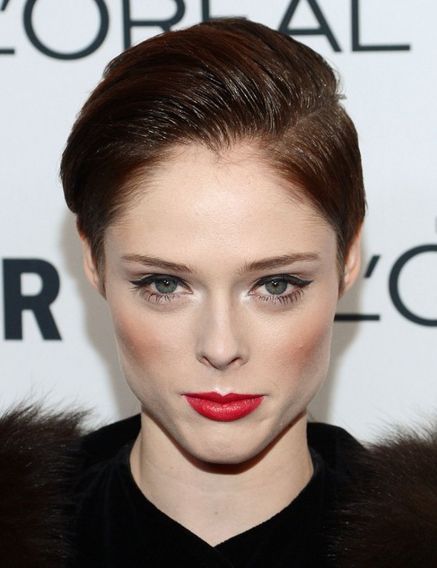 2014-Coco-Rocha-Hairstyles-–-Easy-Pixie-Haircut Top 100 Celebrity Hairstyles 2019
