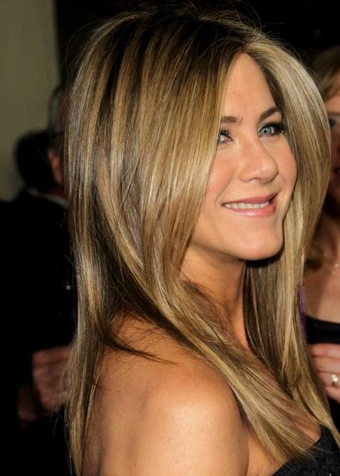 2014-Jennifer-Aniston-Hairstyles-Medium-Straight-Haircut Top 100 Celebrity Hairstyles 2019