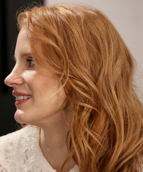 2014-Jessica-Chastain-Hairstyles-–-Blonde-Layered-Haircut Top 100 Celebrity Hairstyles 2019