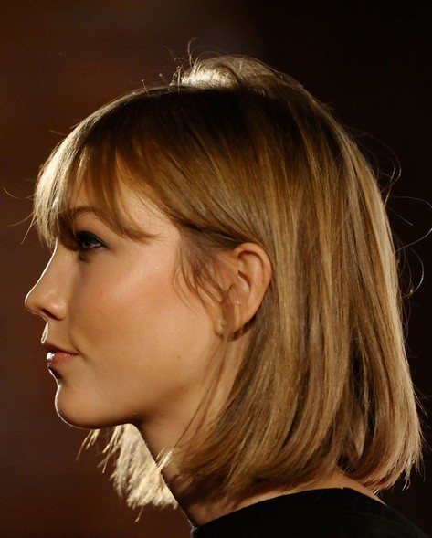 2014-Karlie-Kloss-Hairstyles-Classic-Bob-Haircut Top 100 Celebrity Hairstyles 2019