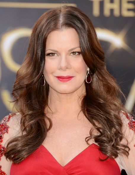 2014-Marcia-Gay-Harden-Hairstyles-Center-Part-Hairstyle-for-Long-Hair Top 100 Celebrity Hairstyles 2019