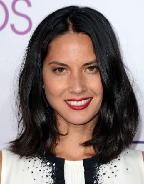 2014-Olivia-Munn-Hairstyles-–-Black-Straight-Hair Top 100 Celebrity Hairstyles 2019