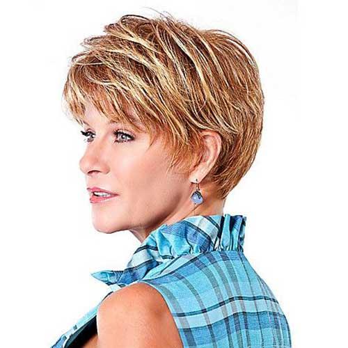 8.Short-Hair-For-Women-Over-40 Short Hair Cuts For Women Over 40