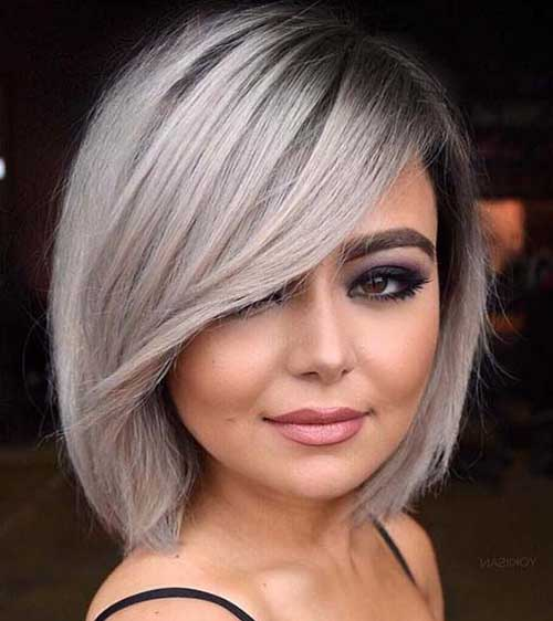 Ash-Blonde-Bob-Hairstyle Latest Trend Hair Color Ideas for Short Hair
