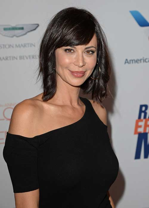 Best-Dark-Wavy-Bob-Style-with-Bangs Short Wavy Hairstyles With Bangs